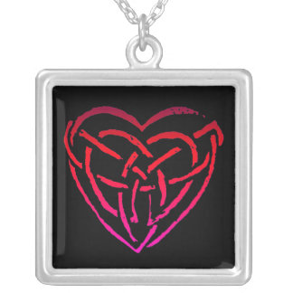 Celtic Heart Silver Plated Necklace