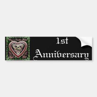 Celtic Heart Wedding/Anniversary De Bumper Sticker Car Bumper Sticker