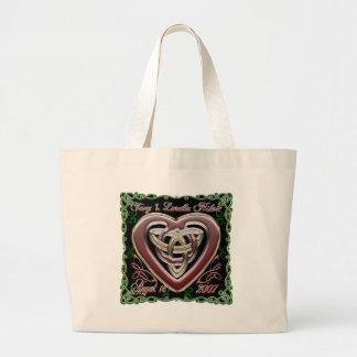 Celtic Heart Wedding/Anniversary Design Bag