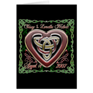 Celtic Heart Wedding/Anniversary Design Card