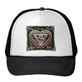Celtic Heart Wedding/Anniversary Design Hat