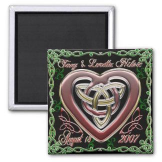 Celtic Heart Wedding/Anniversary Design Magnet