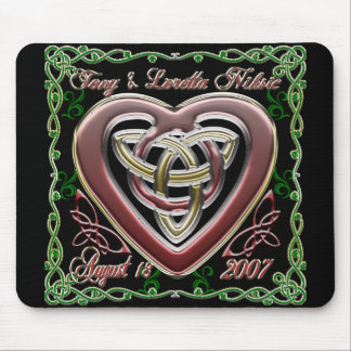 Celtic Heart Wedding Anniversary Design Mousepad