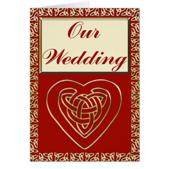 Celtic Heart Wedding Set Card