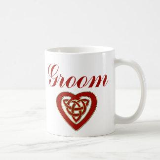 Celtic Heart Wedding Set Mugs