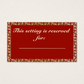 Celtic Heart Wedding Table Reservation card
