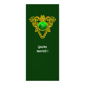 CELTIC HEART WITH SHAMROCK ST PATRICK'S DAY PARTY 4X9.25 PAPER INVITATION CARD