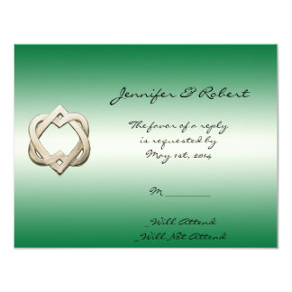 Celtic Hearts on Green Gradient Response Card