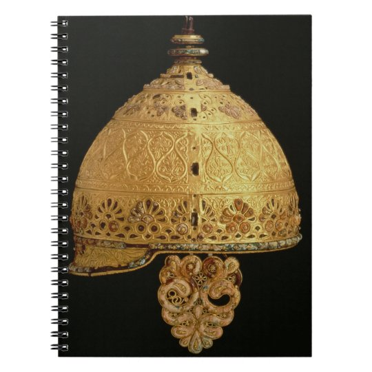 Celtic helmet found at Agris, Charante, 4th centur Notebook