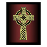 Celtic High Cross ~ Decorative Knotwork ~ * ~ Poster