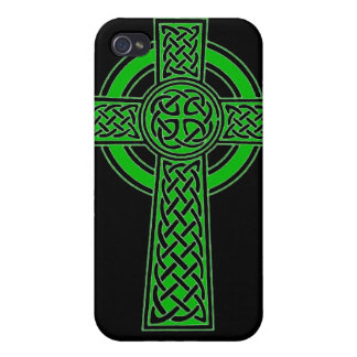 Celtic High Cross - Vivid Green iPhone 4/4S Cover