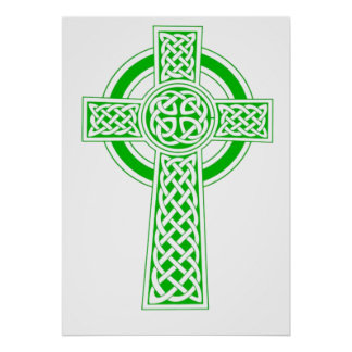 Celtic High Cross - Vivid Green Posters