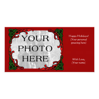 Celtic Holiday Photo Greeting Card