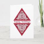 Celtic Holly Birds Greeting Card
