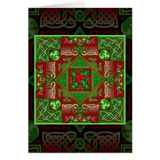 Celtic Holly Labyrinth Card