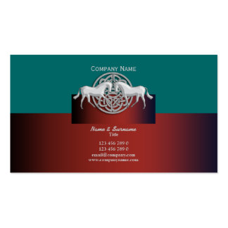 Celtic Horse business marketing blue red white Double-Sided Standard Business Cards (Pack Of 100)