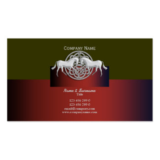 Celtic Horse business marketing red green white Double-Sided Standard Business Cards (Pack Of 100)