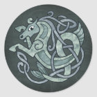 Celtic Horse Classic Round Sticker