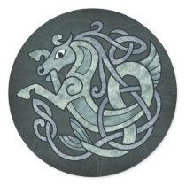 Celtic Horse Classic Round Sticker