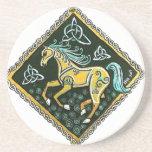 "Celtic Horse Coaster<br><div class=""desc"">Artwork by Skye Elizabeth Wieland &#169; 2014</div>"