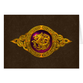 Celtic Horse Design Greeting Card