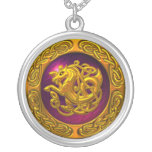Celtic Horse Design Silver Plated Necklace