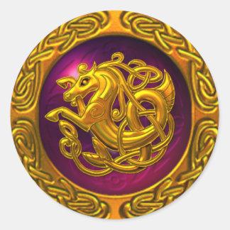 Celtic Horse Design Classic Round Sticker
