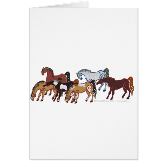 celtic horse herd card