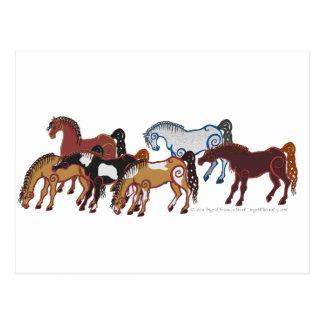 celtic horse herd postcard