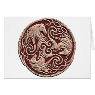 Celtic Horse Knot Greeting Cards