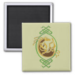 Celtic Horse Knotwork - Green & Gold Magnet