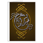 Celtic Horse Knotwork - Silver & Gold Card