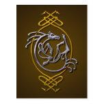 Celtic Horse Knotwork - Silver & Gold Postcard
