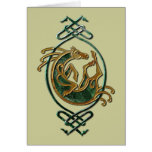 Celtic Horse Knotwork - Stone Card
