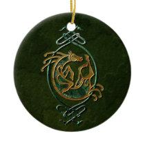 Celtic Horse Knotwork - Stone Ceramic Ornament
