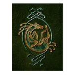 Celtic Horse Knotwork - Stone Postcard