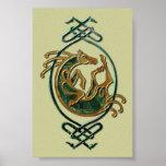 Celtic Horse Knotwork - Stone Poster