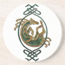 Celtic Horse Knotwork - Stone Sandstone Coaster