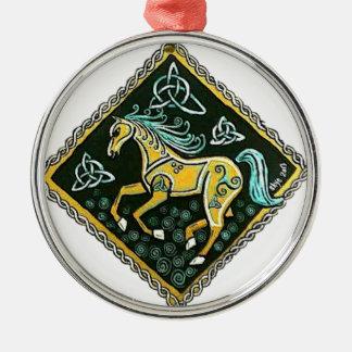 Celtic Horse Metal Ornament