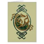 Celtic Horse - stone Card