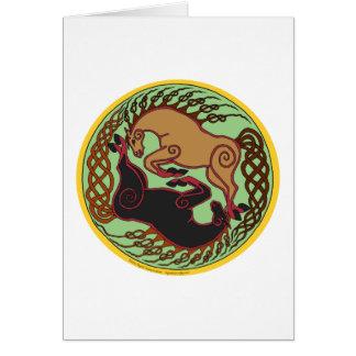 celtic horse yin yang card