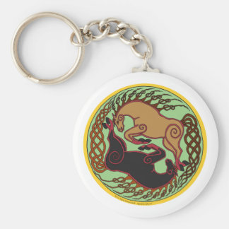 celtic horse yin yang key chain
