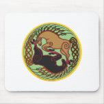 celtic horse yin yang mouse pad