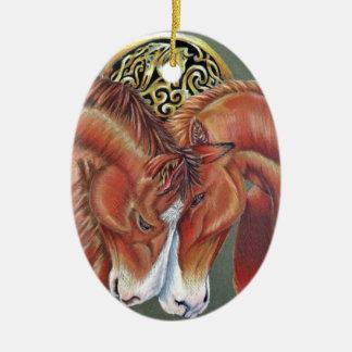 Celtic horse- zodiac symbol ceramic ornament