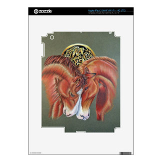 Celtic horse- zodiac symbol decals for iPad 3