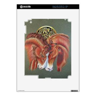Celtic horse- zodiac symbol skins for iPad 2