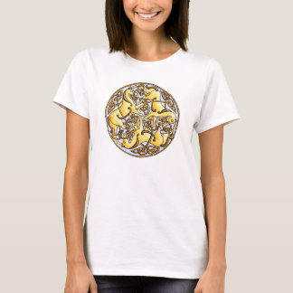 Celtic horses and knots in circle T-Shirt