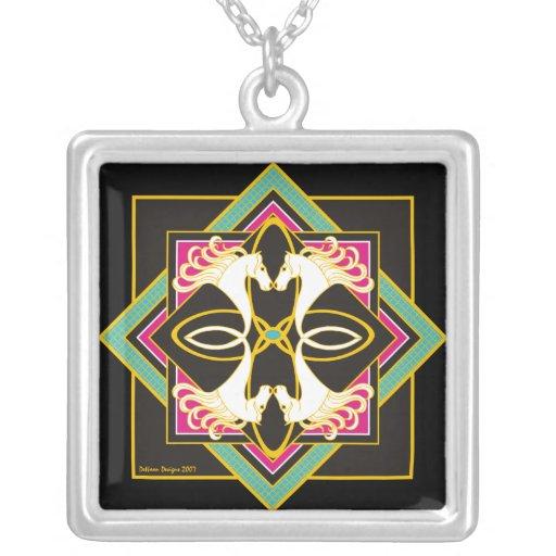 Celtic Horses Necklace