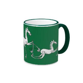 Celtic horses ringer mug