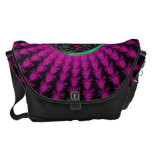 Celtic Hot Pink and Green Fractal Knot Courier Bag